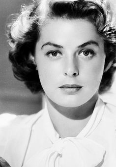 Ingrid Bergman, ca. 1942 One of my most favorite actresses of ALL time! Ingrid Bergman, ca. 1942 One of my most favorite actresses of ALL time! Viejo Hollywood, Hollywood Icons, Old Hollywood Glamour, Golden Age Of Hollywood, Vintage Hollywood, Hollywood Actresses, Classic Hollywood, Old Hollywood Stars, Swedish Actresses