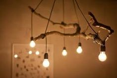Natural Tree Branch And String Light Chandelier is part of Wood diy - Perfect tree branch chandelier for your modern farmhouse lighting, living room, rustic, simple with nice light bulbs! Deco Luminaire, Luminaire Design, Branch Chandelier, Chandelier Lighting, Rustic Chandelier, Chandelier Ideas, Driftwood Chandelier, Outdoor Chandelier, Iron Chandeliers