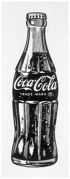 Vintage coca cola bottle drawing: The image is less about colour and more about the content. A different take on a familiar subject and design. Vintage Coca Cola, Garrafa Coca Cola, Pop Art Tattoos, Retro Tattoos, Bottle Drawing, Coca Cola Bottles, Vintage Drawing, Vintage Pop Art, Vintage Ideas