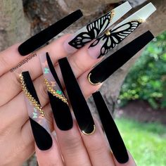 15 Color Changing Nail Inspirations – Cool Nail Art Designs 2020 – Her Style Code – Nails Aycrlic Nails, Sexy Nails, Dope Nails, Glam Nails, Bling Nails, Matte Nails, Beauty Nails, Coffin Nails, Rhinestone Nails