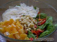 Σαλάτα με σπανάκι, πορτοκάλι και παρμεζάνα #sintagespareas
