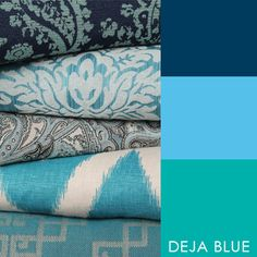 #6013 Deja Blue – Carole Reserve This book will have you day dreaming of all things blue! Deja Blue features statement making Impressionist prints on cotton, highlighting shades of blue and turquoise to make patterns really pop with the clean fresh grounds.