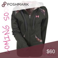 🎀Make an Offer!🎀 Zip Hoodie with Camo Accents Green Under Armour hoodie with RealTree camo and pink accents. Perfect for a Country Barbie. Runs a *little* small. Fits XL just fine but definitely tight if worn with a lot of layers. Excellent used condition, no damage to zipper pull or drawstrings. Gift included. More pictures to come ASAP. Under Armour Tops Sweatshirts & Hoodies