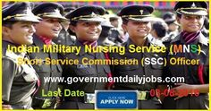 MNS OFFICERS VACANCY IN INDIAN ARMY RECRUITMENT 2016 ~ Government Daily Jobs
