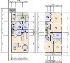 42坪北入り3間間口5LDK収納の多い住宅プラン
