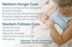 Hunger Cues For Newborns