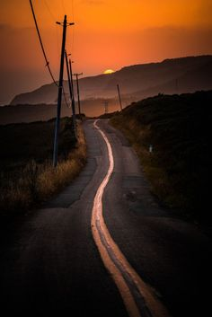 """dcpnomadictraveler: """" crescentmoon06: """" Photography by Larry Nienkark """" The road less traveled offers more time to dream. """""""