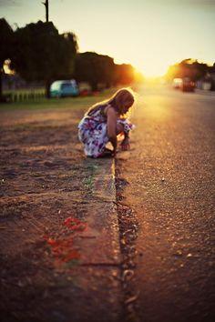 Lil Girl In Street