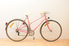 53cm Pink Peugeot Carbolite Vintage Ladies Mixte Bicycle