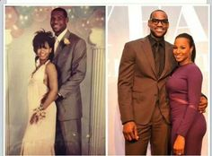 LeBron James a nd wife (past and future)