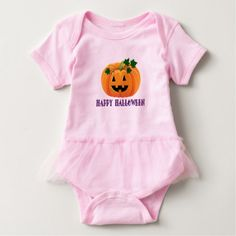 Happy Halloween Jack O'Lantern Tutu Bodysuit - Halloween happyhalloween festival party holiday