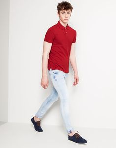 :JEANS SKINNY FIT PULL AND BEAR SKINNY JEANS MEN