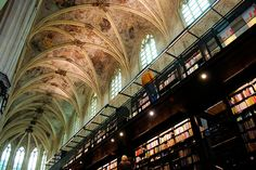 This fantastically gorgeous bookstore, housed in a 13th-century Dominican church in Maastricht, Holland