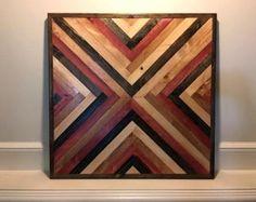 Arte de la pared arte de pared de madera rustico por MDTWoodwork