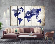 Large Push Pin World Map Wall Art Canvas, Print Large Wall Art Watercolor World Map Art, Print Large Map, Print Extra Large Wall Art World Map Canvas, World Map Wall Art, Canvas Wall Decor, Canvas Art, Canvas Prints, Push Pin World Map, Map Painting, Water Color World Map, Sunset Canvas