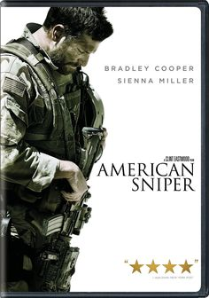American Sniper - Starring Bradley Cooper, Sienna Miller, Kyle Gallner, Jake McDorman, Luke Grimes, Navid Negahban, and Keir O'Donnell.  #drama  #book2movie