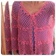crochetinpaternoster crochet pink top