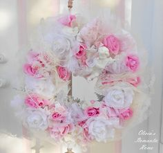 Shabby+Chic+Roses+Romantic+Princess+Spring+by+Oliviasromantichome,+$150.00