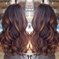 caramel brown balayage hair with lighlights 2015 Hot Hair Colors, Ombre Hair Color, Cool Hair Color, Hair Colour, 2015 Hairstyles, Summer Hairstyles, Cool Hairstyles, Weave Hairstyles, Brown Hair Balayage