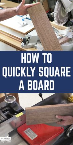 Squaring a board is one of the most basic skills a woodworker must have. If you're not starting with a board that's square six sides, it's hard to make a woodworking project that's square. Check out this Post Haste video to learn, in just over a minute, how to square a board.
