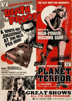 Yoshiki Takahashi, not technically an actual grindhouse poster from back in the day but it pays tribute to it