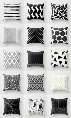 Black And White Pillows Georgiana Paraschiv