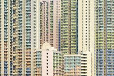 Hypnotic: Dizzyingly tall tower blocks create a mosaic effect as far as the eye can see in these  photos of Hong Kong living quarters