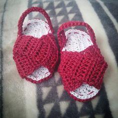 Sandalias a crochet.