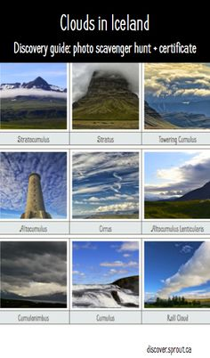 Photo scavenger hunts for long drives in Iceland | Cloud Identification