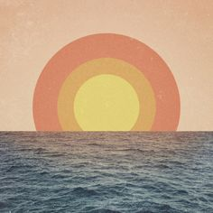 Sunset graphic, photo manipulation