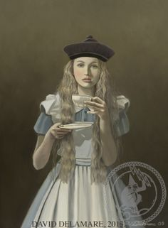 Alice in Wonderland Book (Illustrated by David Delamare)