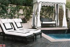 Pool side Glam! black and white by paris hilton