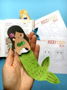 Mermaid Bookmark DIY - Red Ted Art's Blog