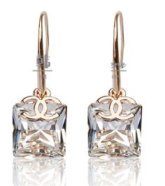 Designer replica Chanel Earrings with cc logo silver wholesale for sale online