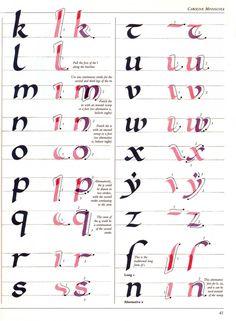 The Art of Calligraphy | Caroline Minuscule | 41