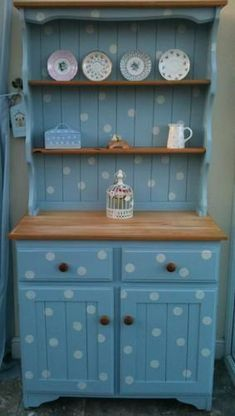 Beautiful Shabby Chic refurbished Welsh dresser Not sure I'd want this for myself, but it is great fun. #shabbychicdressersvintage