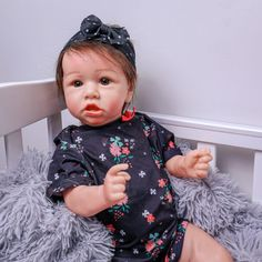 This is a lovely slightly unusual reborn baby girl featuring a very cute crooked mouth style. Reborn Baby Girl, Reborn Babies, Reborn Dolls Uk, Baby Dolls For Sale, Beautiful Brown Eyes, Style, Bebe, Swag, Reborn Dolls