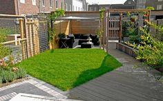 Leuke tuinindeling! Optisch vergroot. Moderne tuin in Vathorst | Inrichting-huis.com