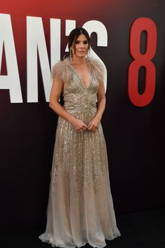Sandra Bullock at an event for Ocean's Eight Ocean's Eight, Sandra Bullock, Red Carpet, Formal Dresses, Oceans, Pictures, Photos, Girls, Fashion