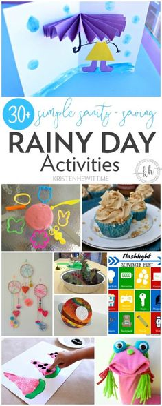 30+ Simple Sanity Saving Rainy Day Activities - these crafts and other fun games are perfect to keep your kids busy when cabin fever sets in!
