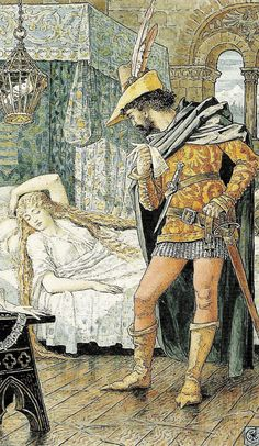 "Walter Crane - ""The sleeping beauty"" 