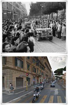Entrata delle Truppe alleate in Roma Via Appia  nei pressi di Porta San Giovanni 5 #Giugno1944
