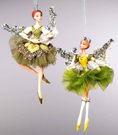 Katherine's Collection Magnolia Fairy Ornaments contemporary holiday decorations