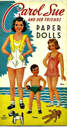 Carol Sue and Her Friends Paper Dolls are Saalfield #1525 and are from the year 1948