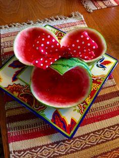 Minnie Mouse watermelon bowl