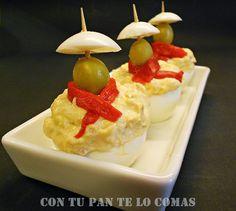 Huevos rellenos de atún San Fermín