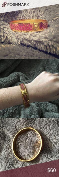 Coach bracelet Good and Pink coach bracelet, worn once! Coach Jewelry Bracelets