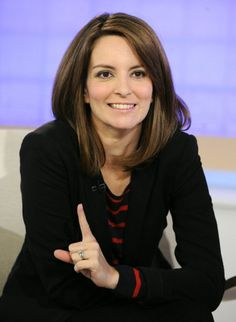 Tina Fey, Matt says I look like her...what an easy way to hide his crush...