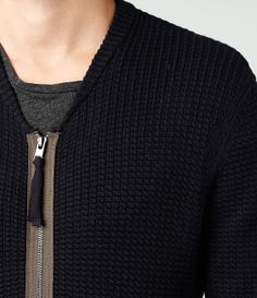 AllSaints Korizon Knit Bomber | Mens Sweaters