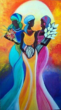 Donde se destacan muchos cuadros modernos baratos, ✅ en los que incluimos multitud de temáticas modernas y que son potencialmente atractivos para los Arte Tribal, Tribal Art, Art Chicano, Afrique Art, African Art Paintings, Modern Art Paintings, Haitian Art, Black Artwork, Afro Art